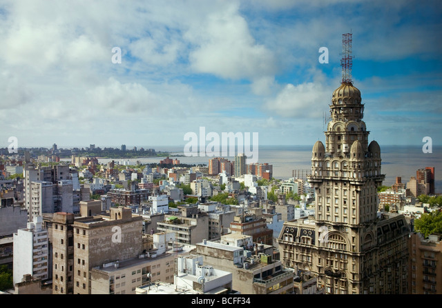 View from Radisson Hotel, Montevideo, Uruguay - Stock Image