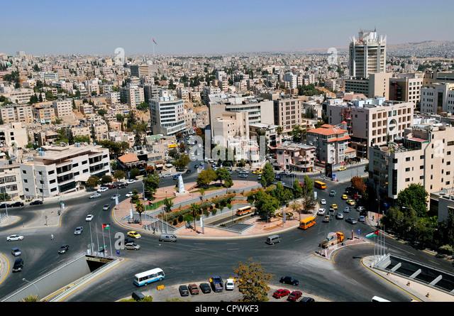 Asia Jordan Amman View of the city - Stock Image