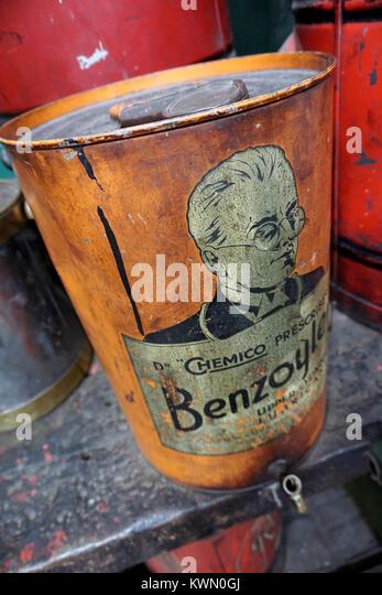 vintage garage oil drum - Stock Image