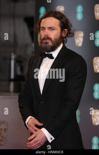 LONDON - FEB 12, 2017: Casey Affleck attends The EE British Academy Film Awards (BAFTA) at the Royal Albert Hall - Stock Image