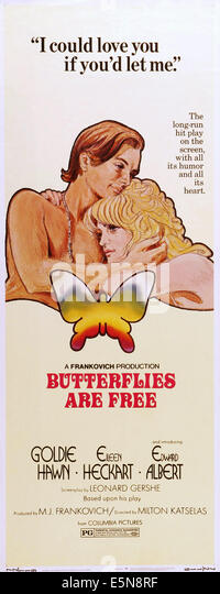 BUTTERFLIES ARE FREE, Eileen Heckart, Goldie Hawn, Edward Albert, 1972 - Stock Image