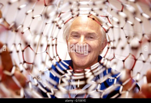 Sir Harry Kroto, Nobel Prizewinning Chemist, Sussex University, Brighton, Sussex, UK. He died in April 2016. - Stock Image