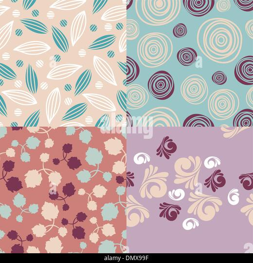 set of cute seamless backgrounds - Stock-Bilder