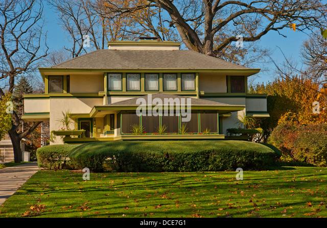 Frank lloyd wright house illinois stock photos frank for Frank lloyd wright river house