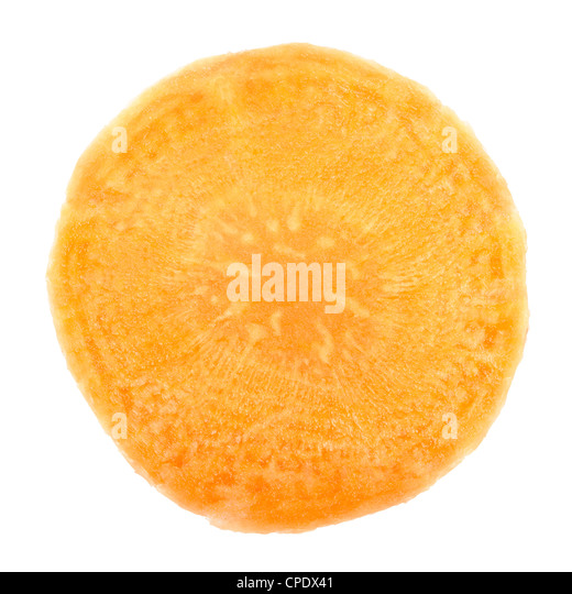 Carrot slice - Stock Image