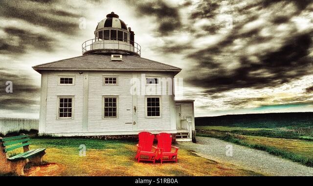Original Cape Spear lighthouse (opened in 1836) Avalon Peninsula, Newfoundland, Canada - Stock Image