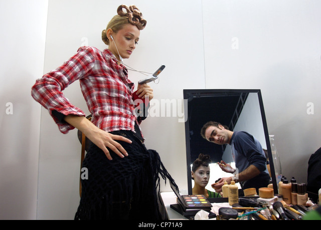 Fashion show CPD woman man, Duesseldorf, Germany - Stock Image