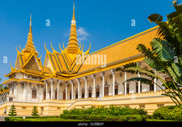 Throne Hall, Royal Palace, Phnom Penh, Cambodia, Indochina, Southeast Asia, Asia - Stock Image