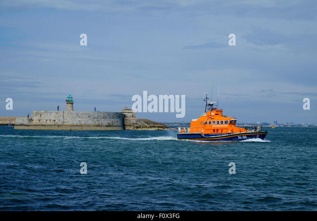 rnli lifeboat dun laoghaire 14-06 windsor runner - Stock Image
