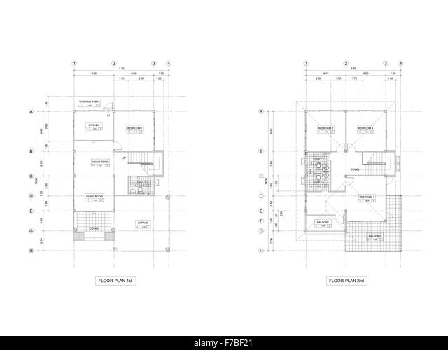 Floor Plans Black And White Stock Photos Amp Images Alamy