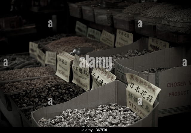 Stall in china town new york - Stock Image