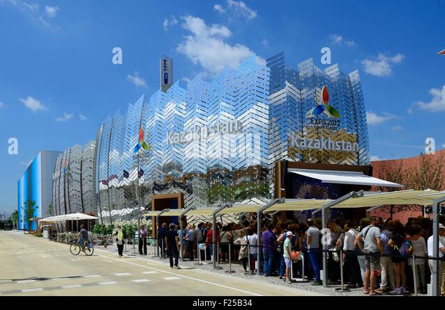 Italy, Lombardy, Milan, World Exhibition Expo Milano 2015 Kazakstan building - Stock Image