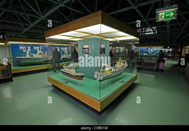 Exhibition at the Meeresmuseum, Oceanographic Museum, Hanseatic City of Stralsund, Mecklenburg-Western Pomerania, - Stock Image