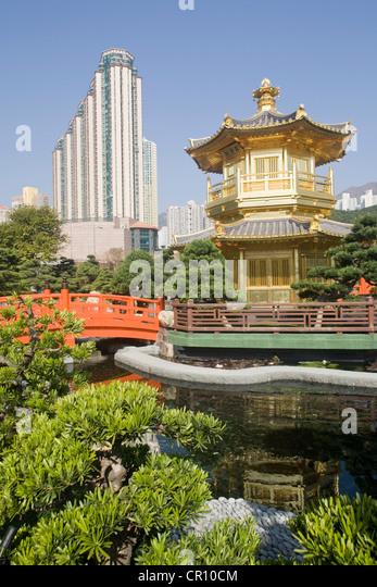 China, Hong Kong, Kowloon, Wong Tai Sin, Nan Lian inspired by Tang dynasty - Stock Image