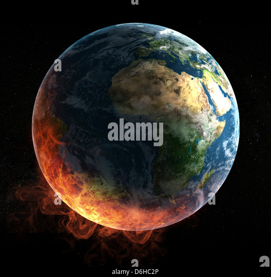 Global warming, artwork - Stock Image