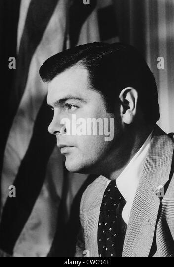 Dwight Chapin was Deputy Assistant to the President Richard Nixon. During Nixon's 1972 re-election he hired - Stock Image