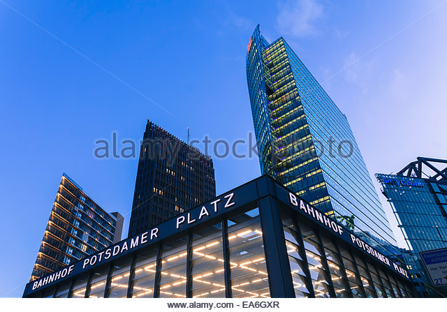 Germany, Berlin, Office buildings at Potsdamer Platz - Stock-Bilder