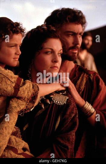 Luke Elliott, Sheryl Lee, Nathaniel Parker *** Local Caption *** 1996, David (1 + 2), Die Bibel - David (1/2) - Stock Image
