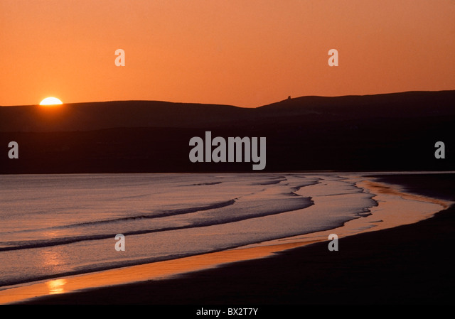 Seashore Sunset, Lahinch, County Clare, Ireland - Stock Image