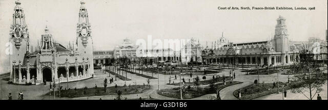 Court of Arts, Franco-British Exhibition, White City, London.      Date: 1908 - Stock-Bilder