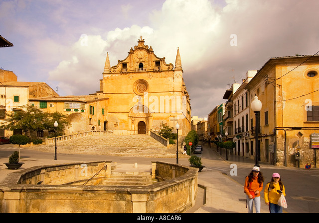 Mallorca Felanitx village church - Stock Image