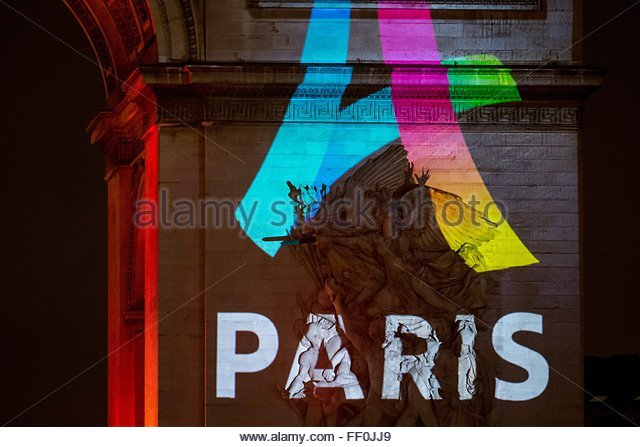 Paris, France. February 9th, 2016. FRANCE, Paris: The logo for Paris as a candidate for the 2024 Olympics Games - Stock Image