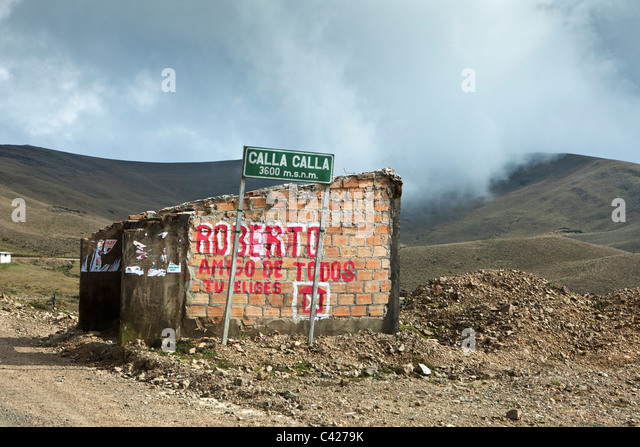 Peru, Leymebamba, Road to Cajamarca. Calla Calla Pass. (3600 m). - Stock Image