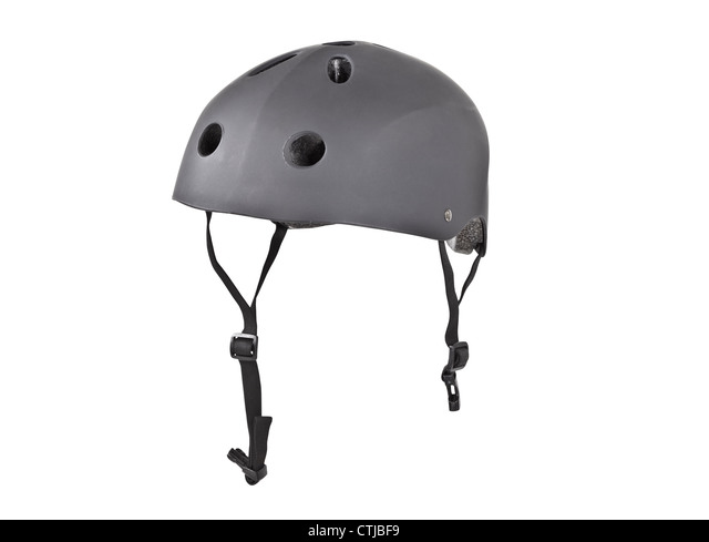 Tough skater crash helmet isolated with clipping path. - Stock Image