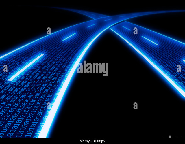 Information highway - computer generated conceptual illustration. - Stock Image