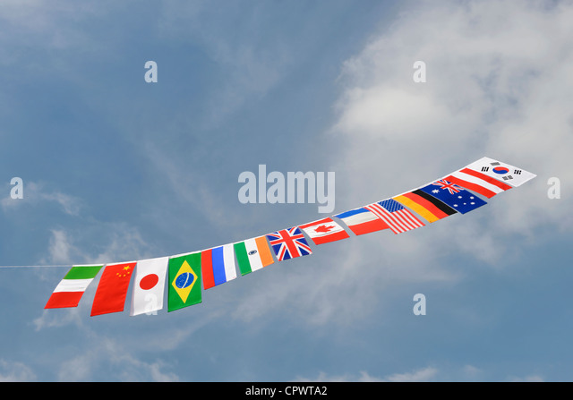 Flags of Nations - Stock-Bilder