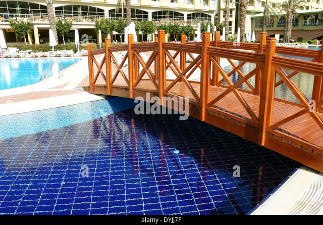 Swimming Pool And Bridge Of Hotel In Side Stock Photos Swimming Pool And Bridge Of Hotel In