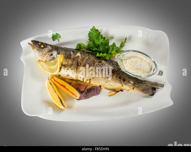 Grilled fish - Stock Image