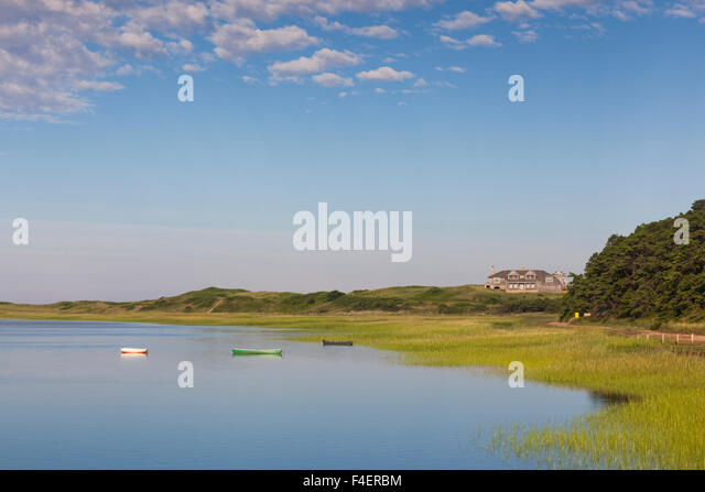 Massachusetts, Cape Cod, Wellfleet, view of The Gut by Great Island - Stock Image