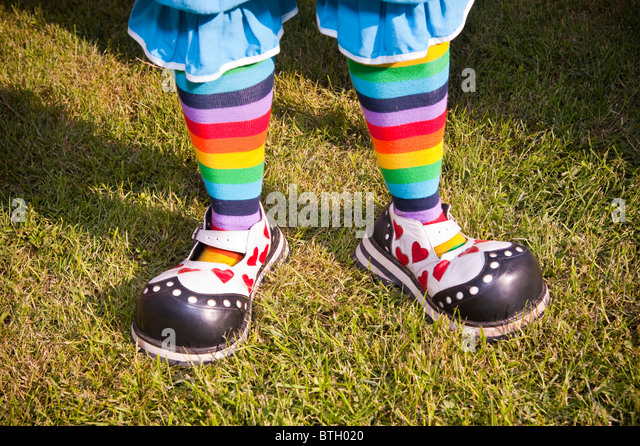 Clown shoes - Stock Image