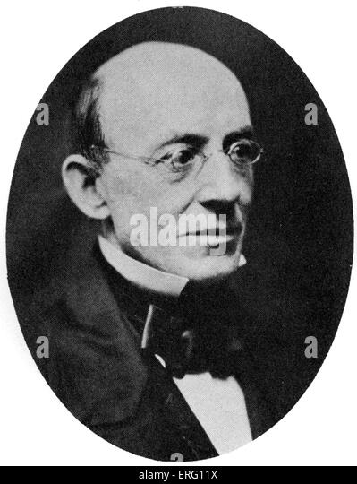William Lloyd Garrison, American journalist and abolitionist. 13  December 1805 – 24 May 1879. - Stock Image