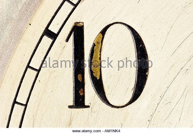 Number ten. - Stock Image