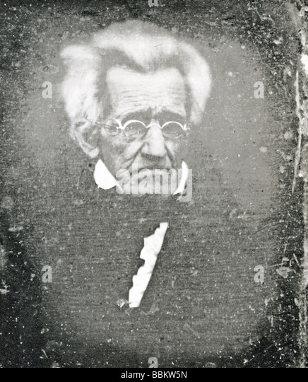 US PRESIDENT ANDREW JACKSON shortly before his death in 1845 - Stock Image