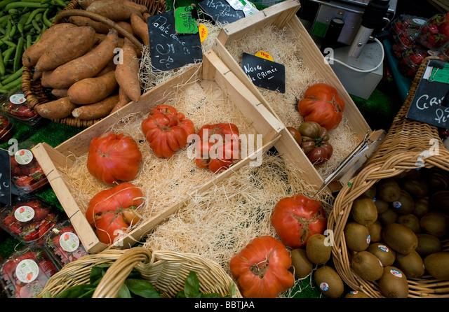 Paris Boulevard Raspail Biomarkt Paris Boulevard Raspail Health Food Market - Stock Image