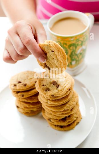 Plate of biscuits - Stock-Bilder