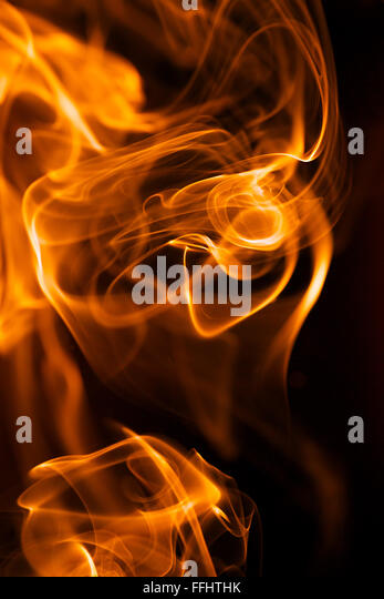 Close-up of fire and flames - Stock Image