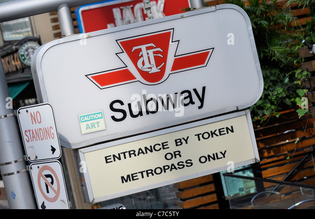 Toronto TTC Subway Sign - Stock Image
