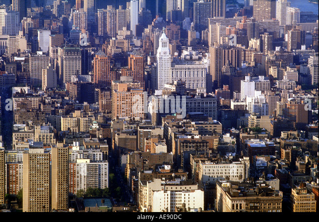 Buildings in the New York City skyline New York USA - Stock Image
