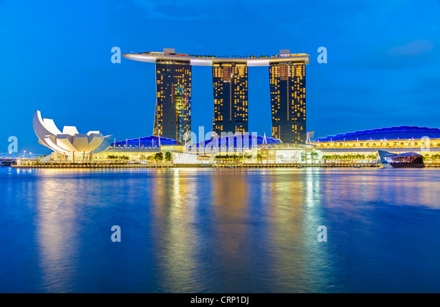 Marina Bay Sands, Marina Bay, Singapore, South East Asia - Stock Image