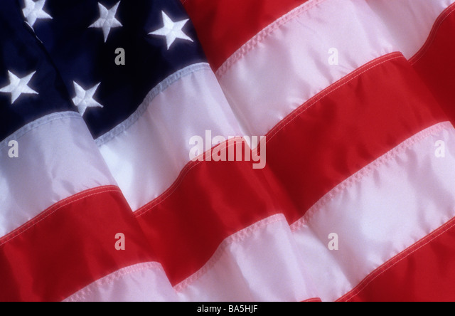American flag folded - Stock Image