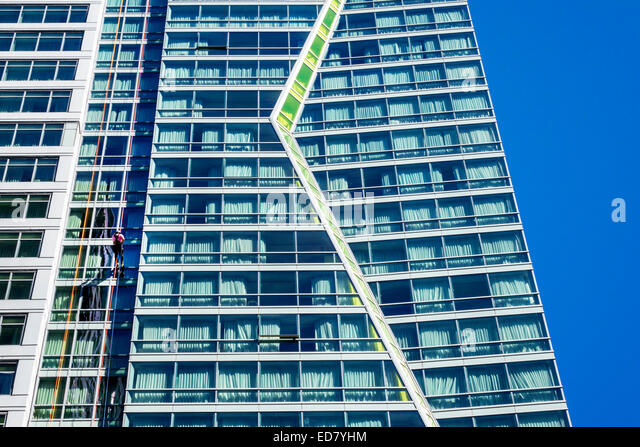 Chicago Illinois Loop Retail Historic District downtown Respiratory Health Association Skyline Plunge! Urban Rappel - Stock Image