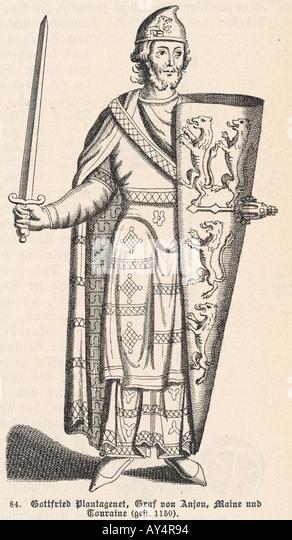 Geoffrey Of Anjou - Stock Image