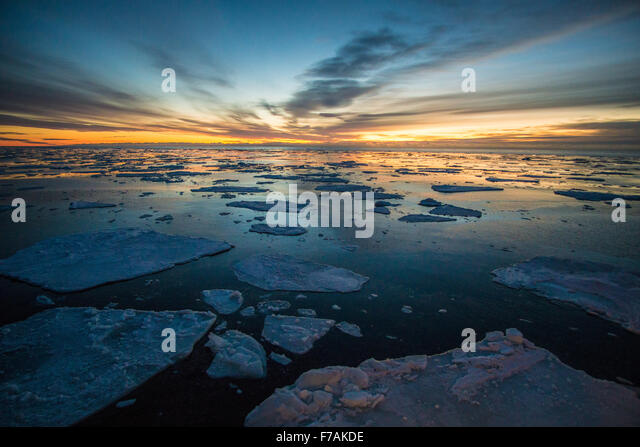 Into the ice - Stock Image