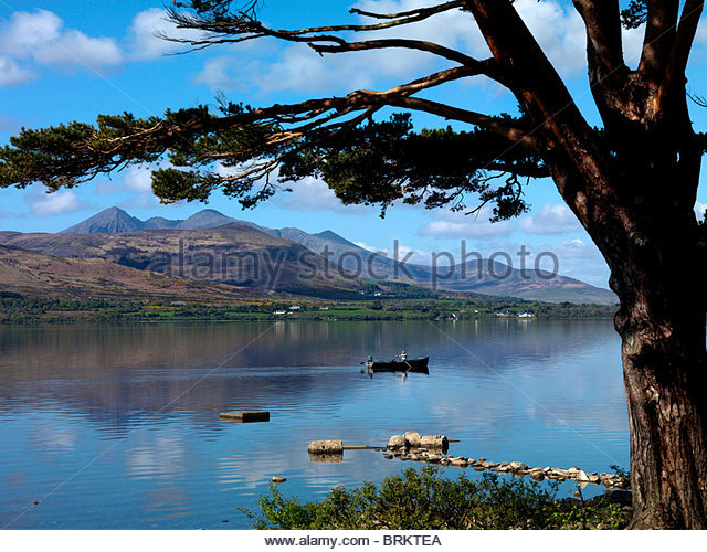 Rowing boat on Lough Leane, Killarney, County Kerry - Stock Image
