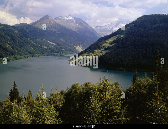 geography / travel, Austria, Tyrol, landscapes, Durlaßbodenspeicher, Europe, near Gerlos, storage lake, reservoir, - Stock Image