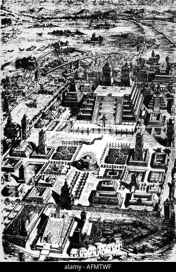 tenochtitlan drawing stock photos  u0026 tenochtitlan drawing